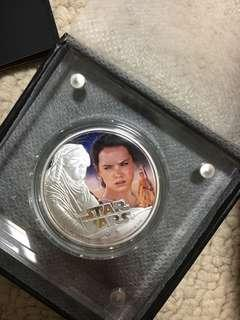Star Wars Niue 1oz Silver Coin Rey (with Box and COA)