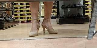 parisian nude heels WITH PRICE TAG!