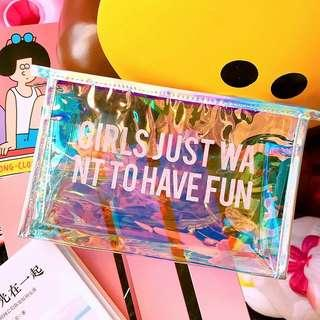 [Preorder] Girls just want to have fun Women Fashion Cosmetic Bag Handbag