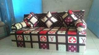 Sofa bed INOAC EOM D24 GARANSI 10 TAHUN ukuran 200x180x20