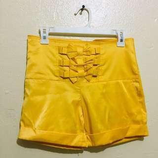 Yellow highwaist with ribbon