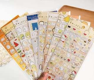 🚚 LSumikko Gurashi Stickers Sheet for planner scrapbook or journal
