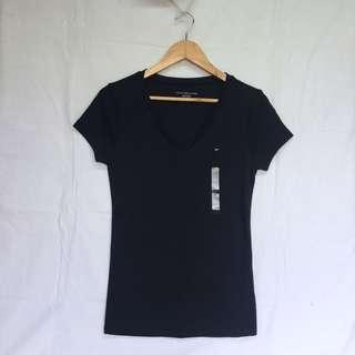 Authentic Tommy Hilfiger Small Logo Navy Blue Shirt