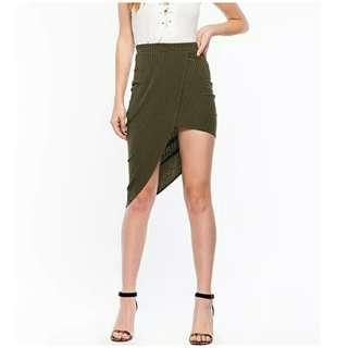 全新Skirt 修身顯瘦不對稱高腰包臀裙 size:XS/L/XL/XXL