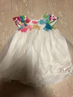 Tutu Skirt with beautiful embroidery TOP