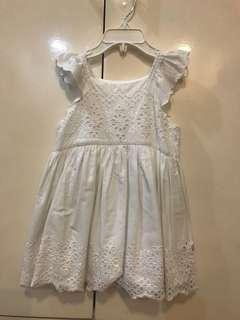 Baby Gap White Eyelet Dress x Gingersnaps x H&M x Carters x Peppermint x Periwinkle x Zara
