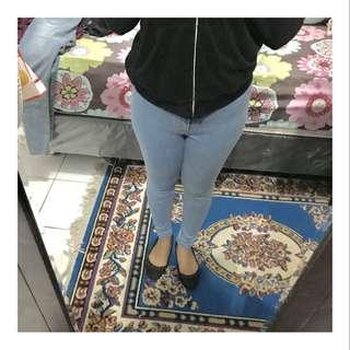 Jeans highwaist light blue