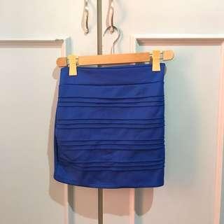 July Royal Blue Mini Bandage Skirt