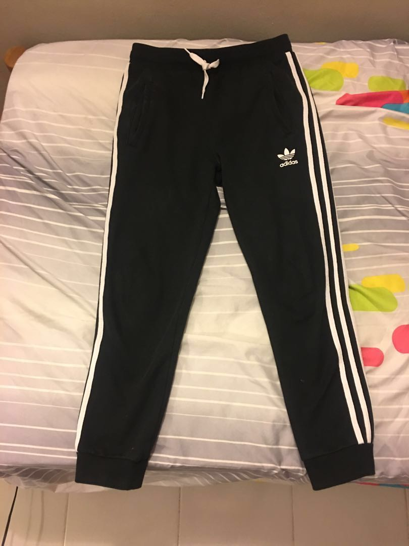 09e7b4b0222291 Adidas Originals Boys Black Track Pants 3 Stripes (XS / 12-13 years old),  Sports, Athletic & Sports Clothing on Carousell
