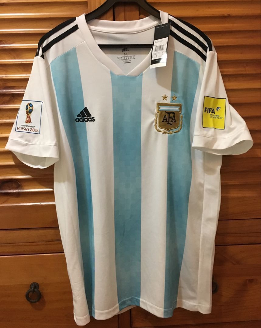 Argentina World Cup 2018 Size M With Patches Sports Apparel Fashion Big T Shirt 2xl On Carousell
