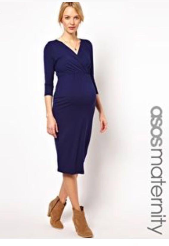 3fc9c42acdce ASOS Maternity Dress Navy US 6 UK 10, Babies & Kids, Maternity on ...