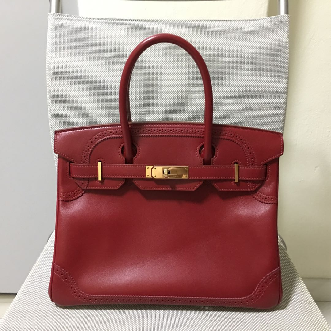 5ab4f3b539f Authentic Hermes Birkin Ghillies size 30 preloved