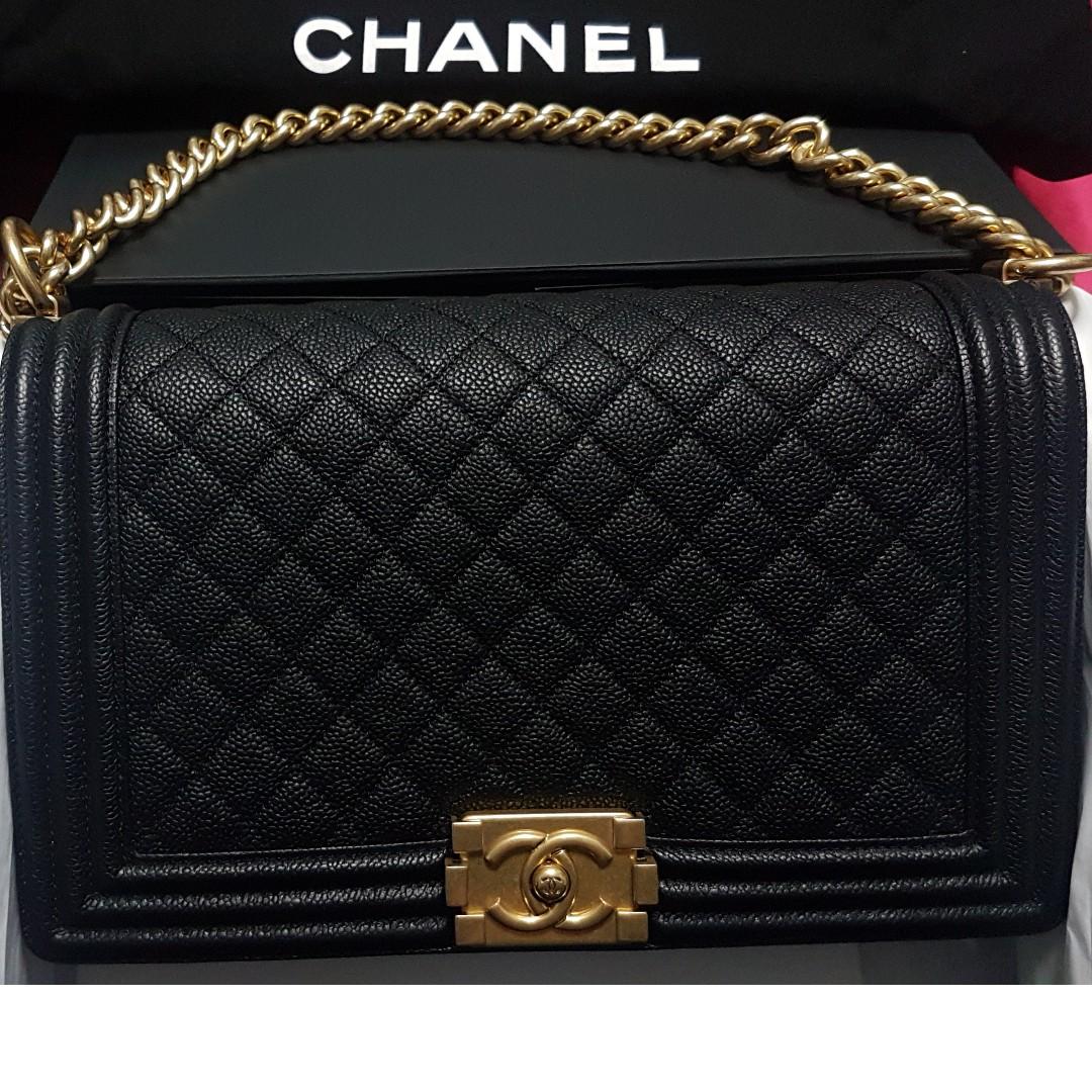 6c3740cf7e65 BN Chanel Le Boy New Medium, Luxury, Bags & Wallets, Handbags on ...