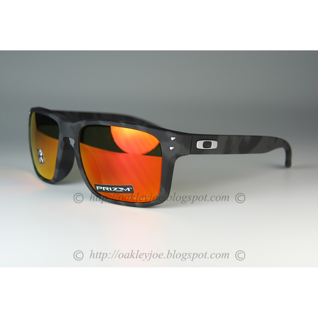 4c39d672959 BNIB Oakley Holbrook Asian Fit black camo + prizm ruby oo9244-3256 ...