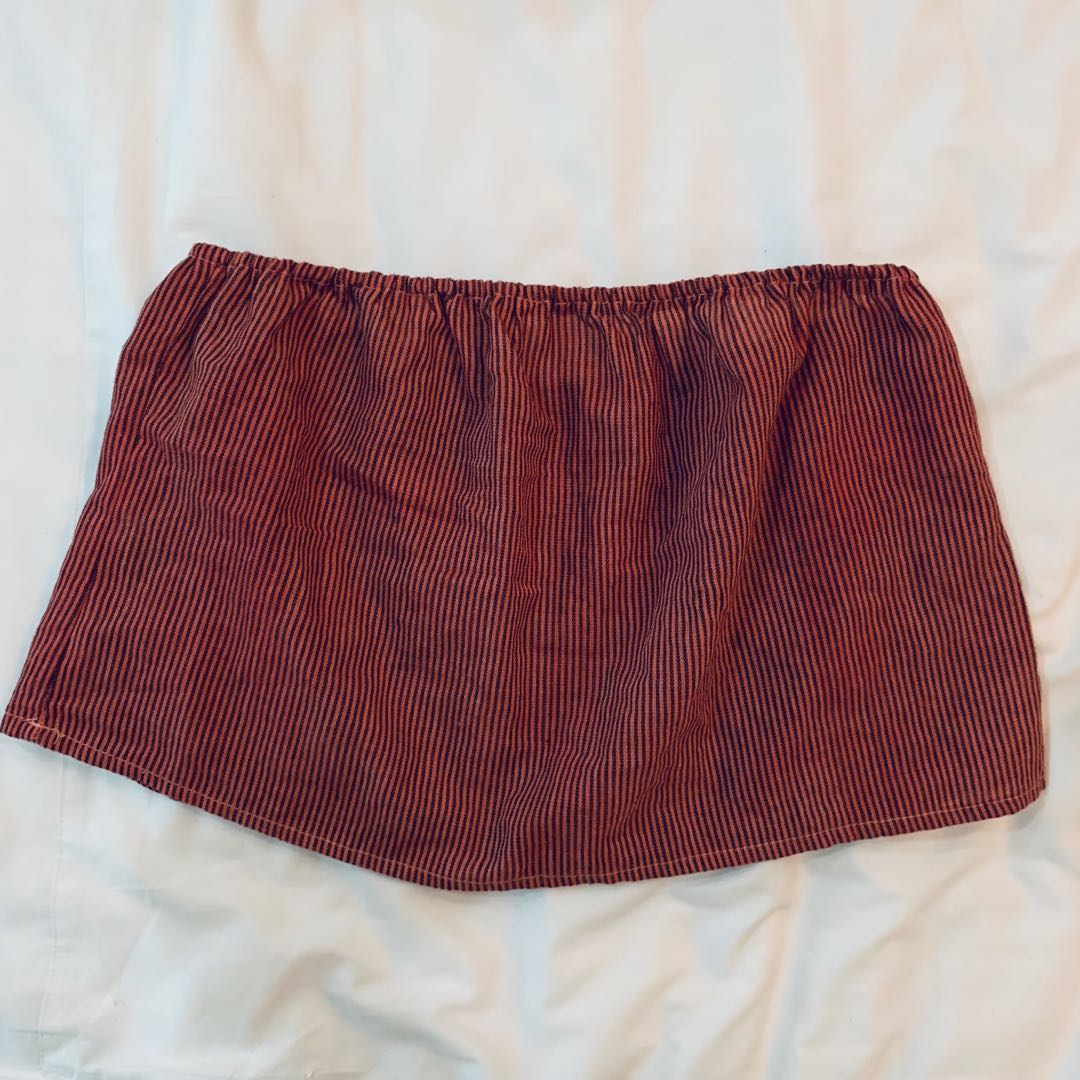 59ab007cc2c48 BNWT brandy Melville red and black pin striped Cassidy flowy Tube ...