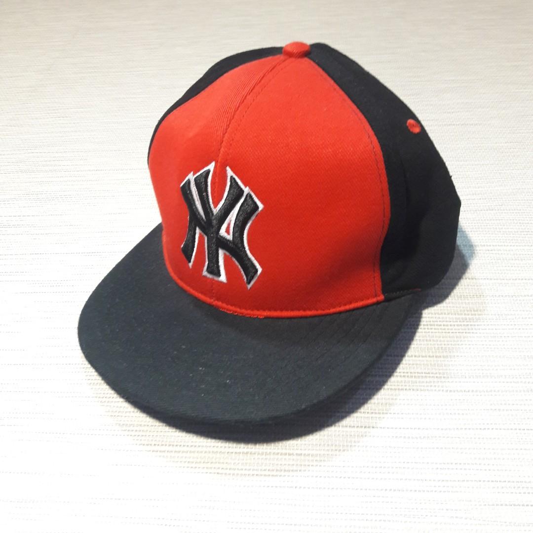 CarousellAtma Topi Snapback NY Merah hitam d29a6a5d50