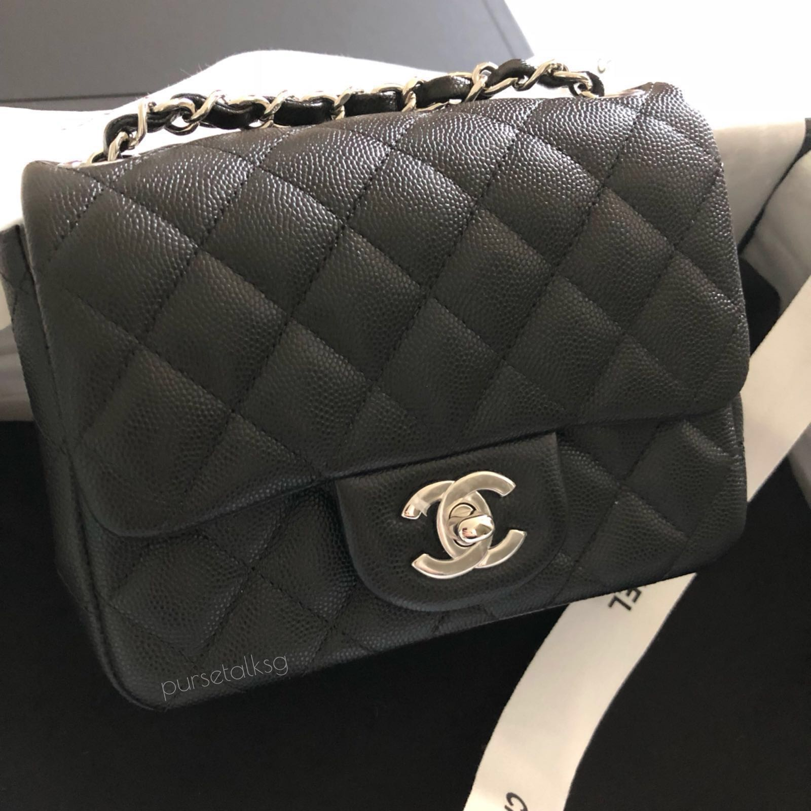 9fa404320a0f Chanel Black Mini Square SHW, Luxury, Bags & Wallets, Sling Bags on ...