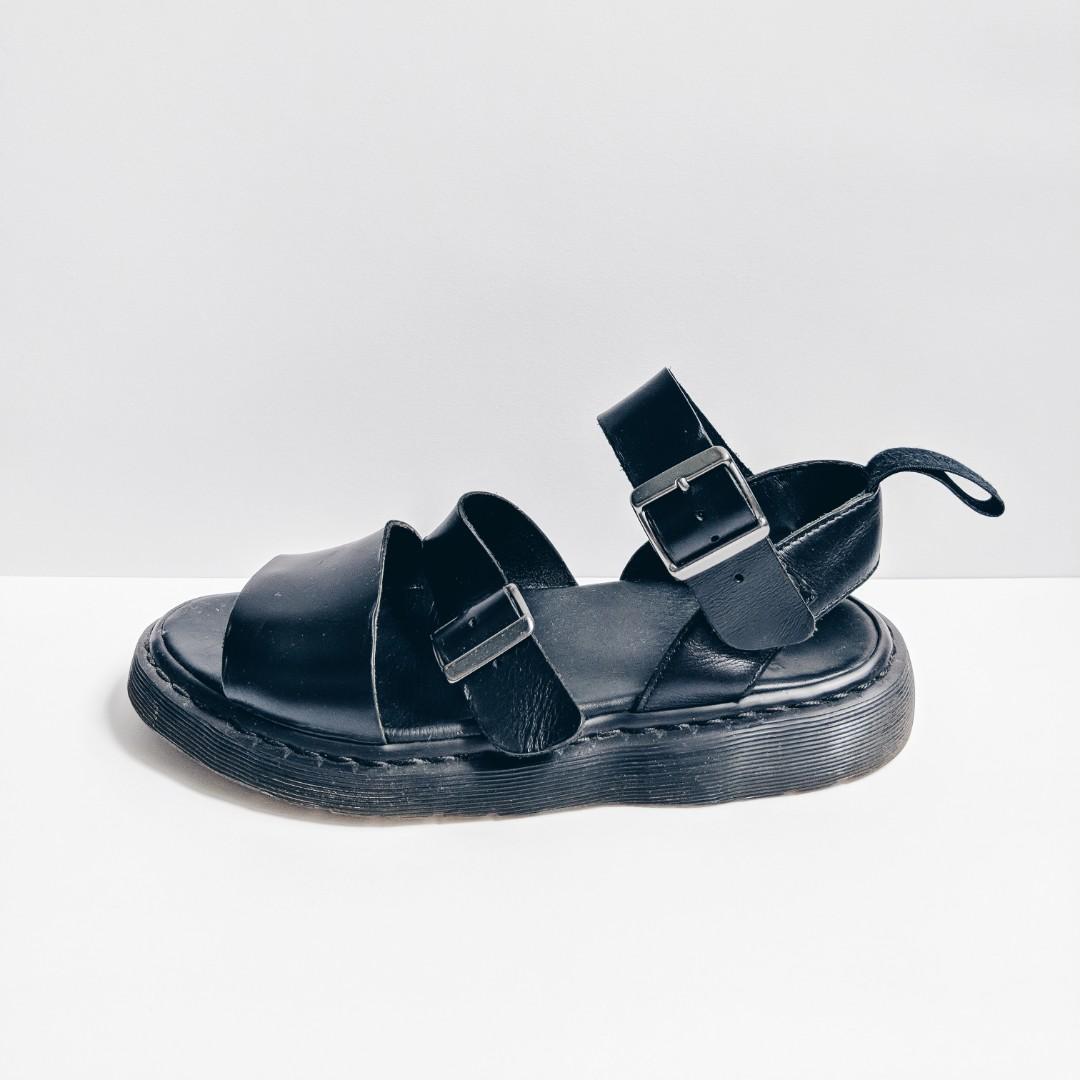 4144d9613fe5 Dr Martens Black Gryphon Sandals