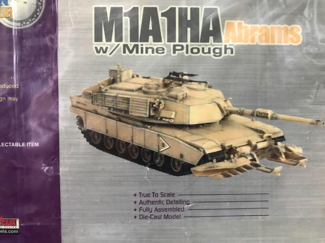 Dragon Armor 1:72 Ready Built M1A1HA Abrams w/Mine Plough No  60018
