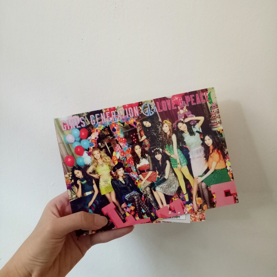 Girls' Generation SNSD 3rd Japanese Album - Love & Peace (CD+DVD)