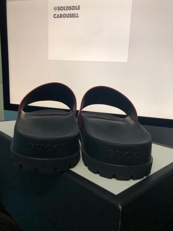 7d2f0ca8877be Gucci Slides (Red leather)