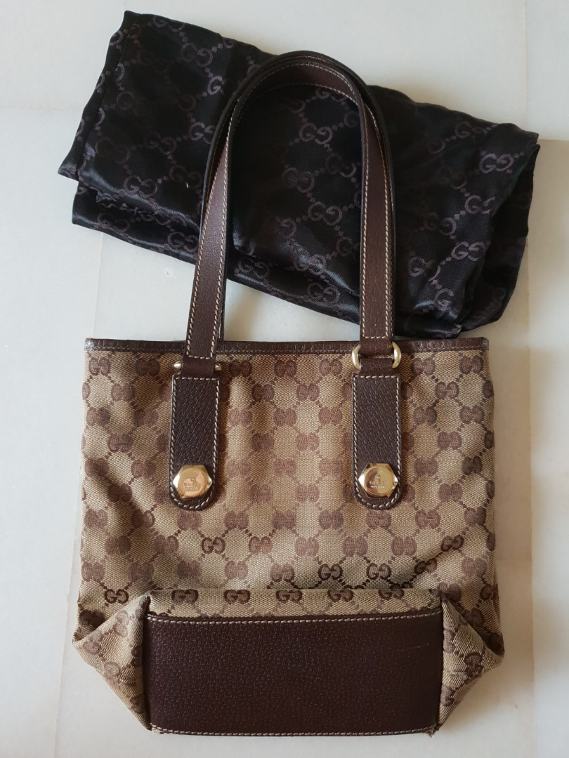 c97e816741 Authentic Gucci Vintage classic tote bag, Preloved, Luxury, Bags ...