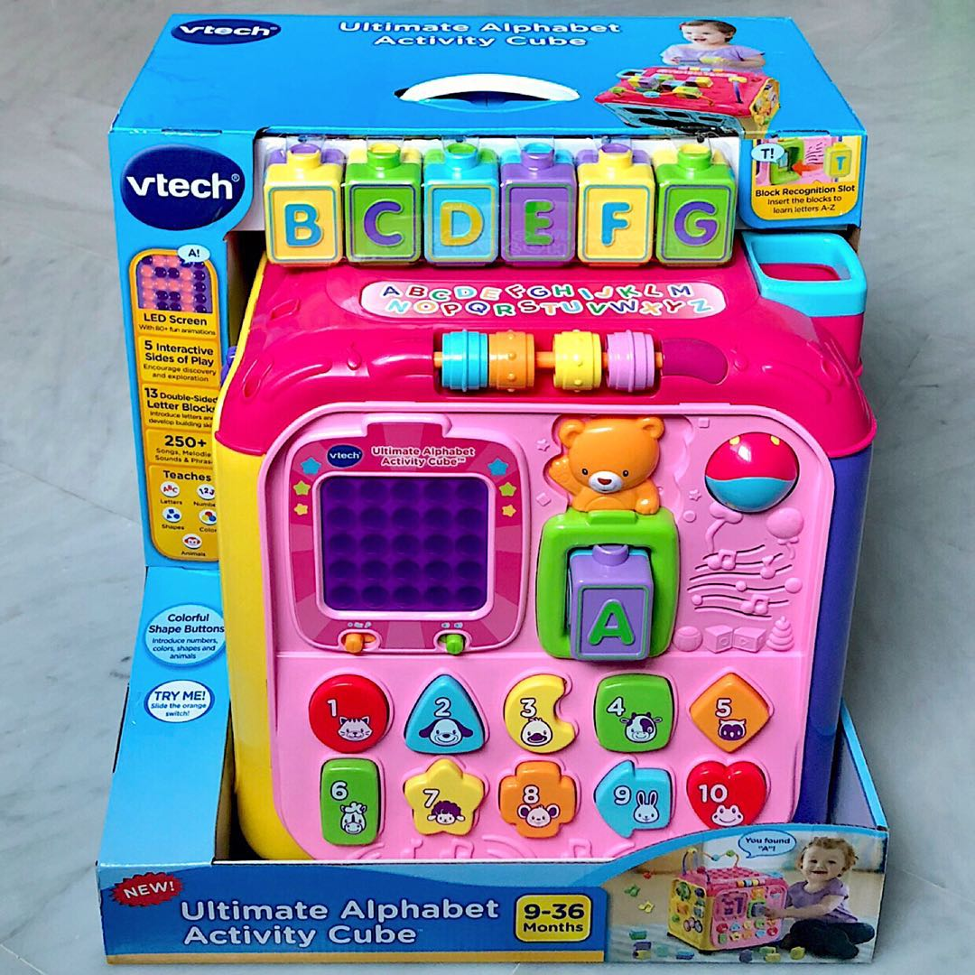 In-Stock) VTech Ultimate Alphabet Activity Cube, Exclusive Color ...