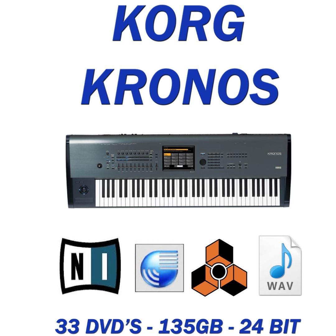 Korg Kronos 24 bit Samples for Kontakt Reason Logic Apple Refills on