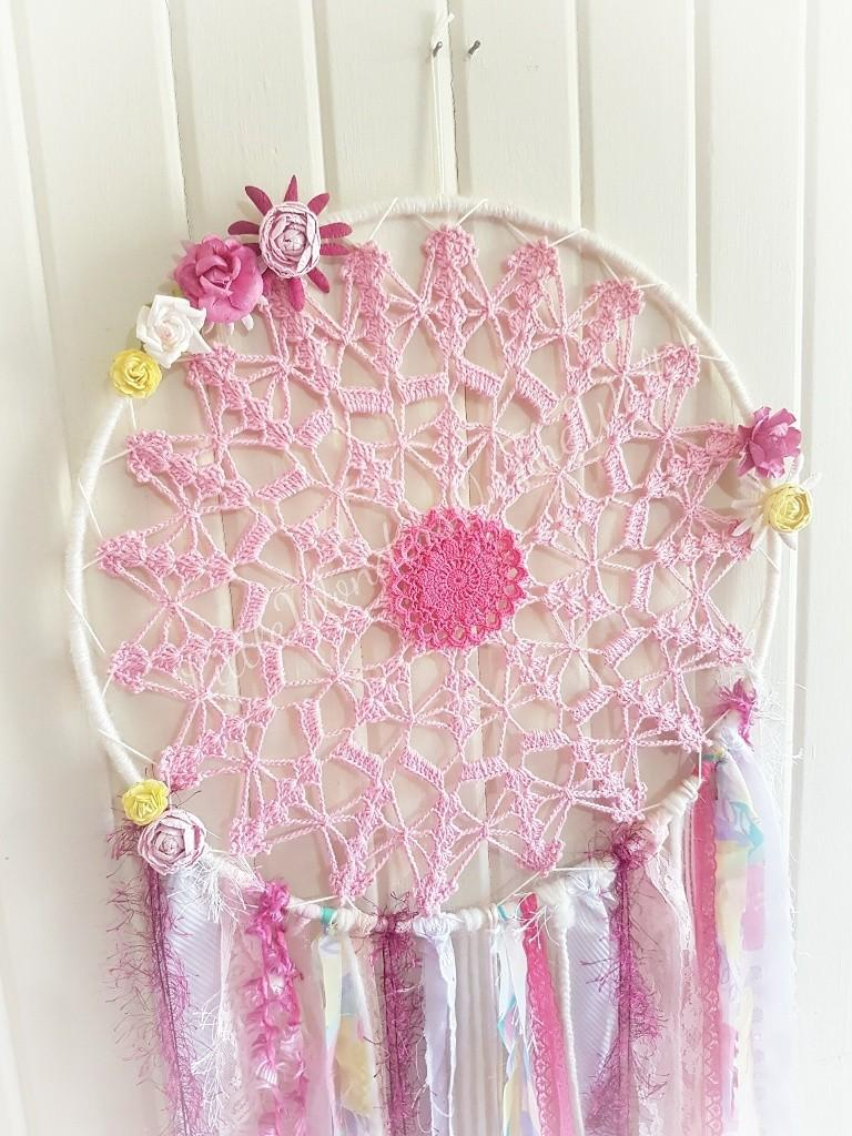 Large Dream Catcher Crochet Doily Flowers Home Furniture Home