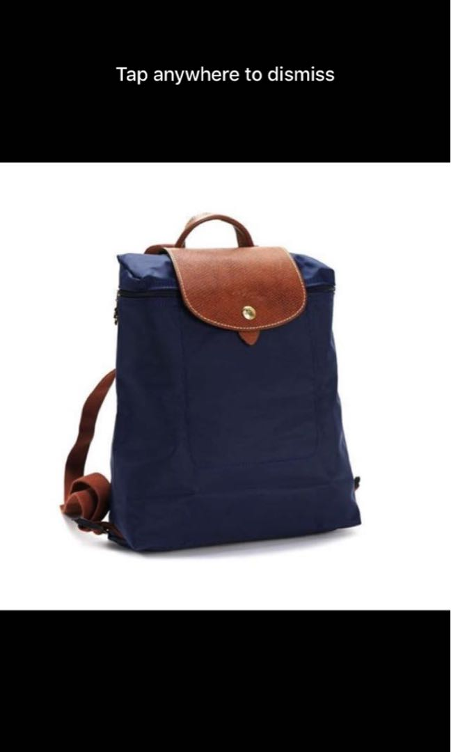 Longchamp Navy blue backpack 1699 la plaige classic c89f833dac2ef