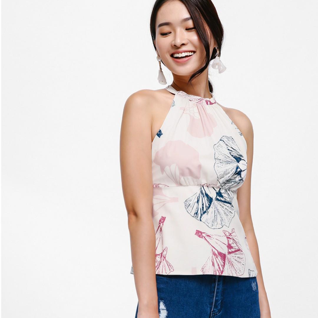4bd5f6f6ffdf Love Bonito Sevigny Halter Neck Top, Women's Fashion, Clothes, Tops ...