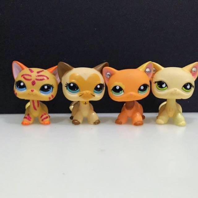 Lps Short Hair Cats 2 Toys Games Bricks Figurines On Carousell