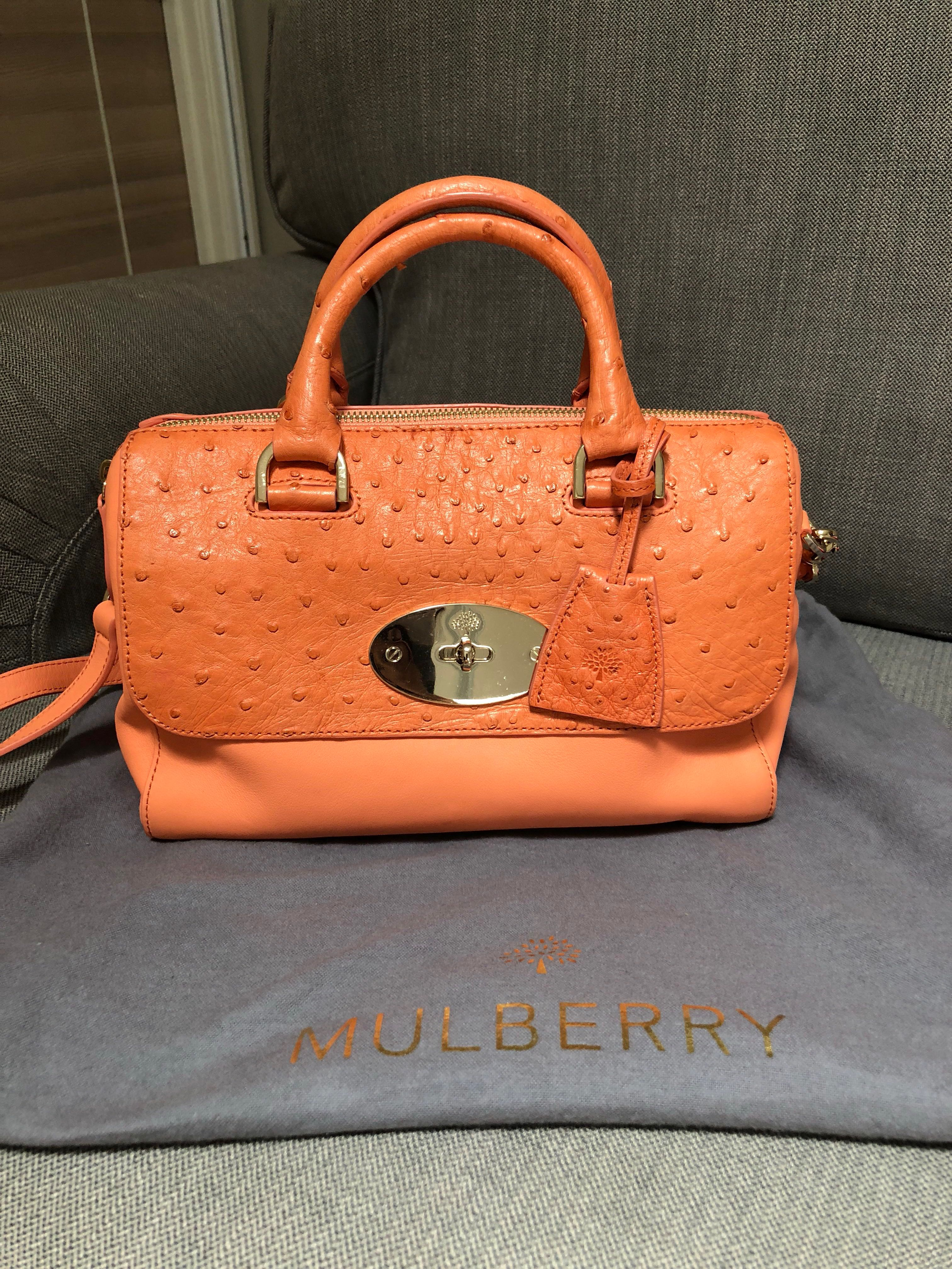 4f1bf21e33a Mulberry ostrich small del rey, Women's Fashion, Bags & Wallets on Carousell