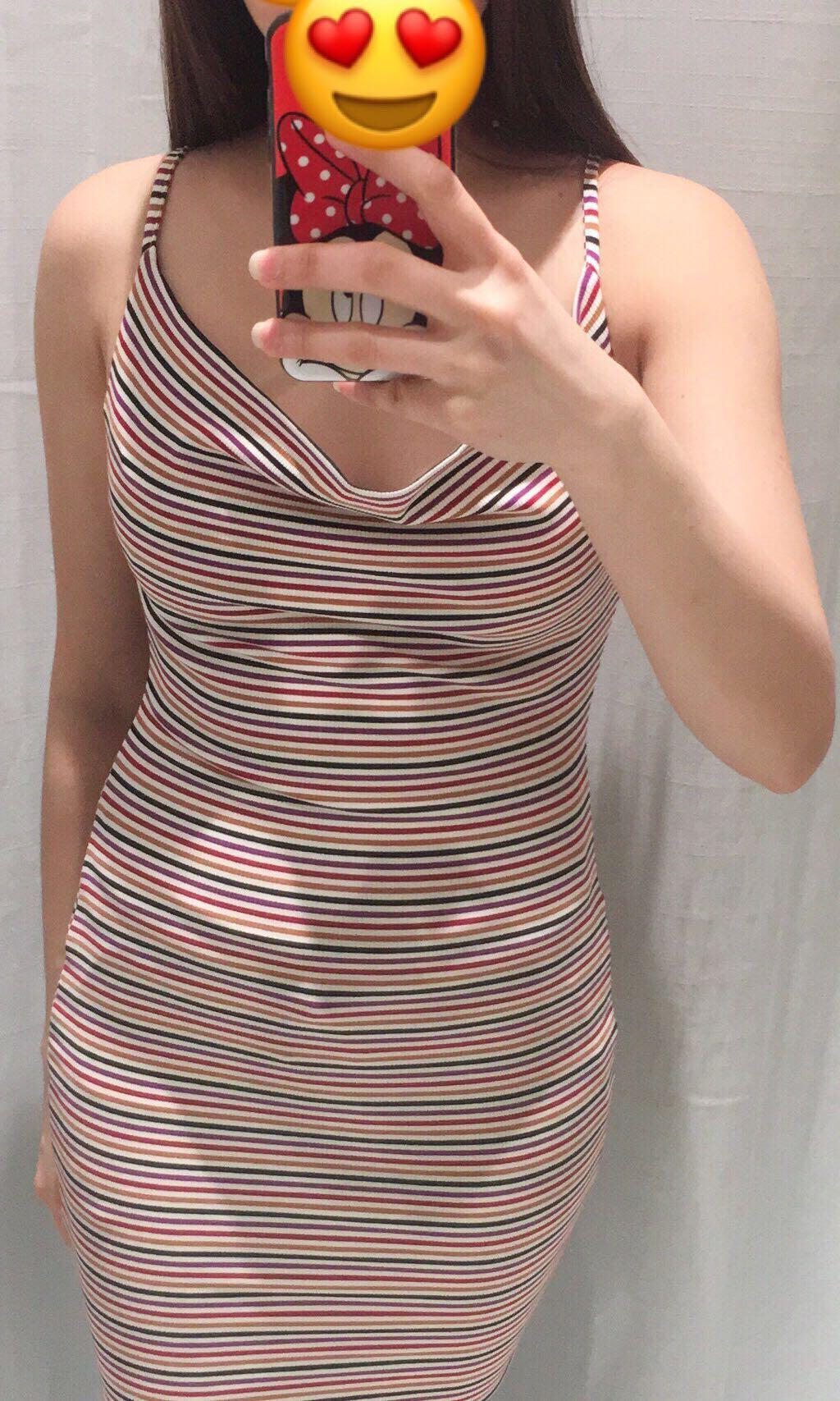 Multi color print dress