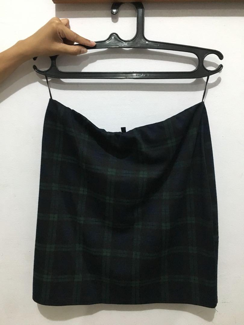 New Look Checkers Pencil Skirt