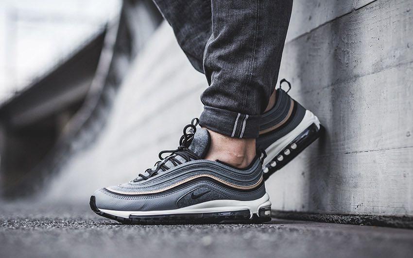 online store 64492 5818c Nike Air Max 97 Premium - Cool Grey, Men's Fashion, Footwear ...