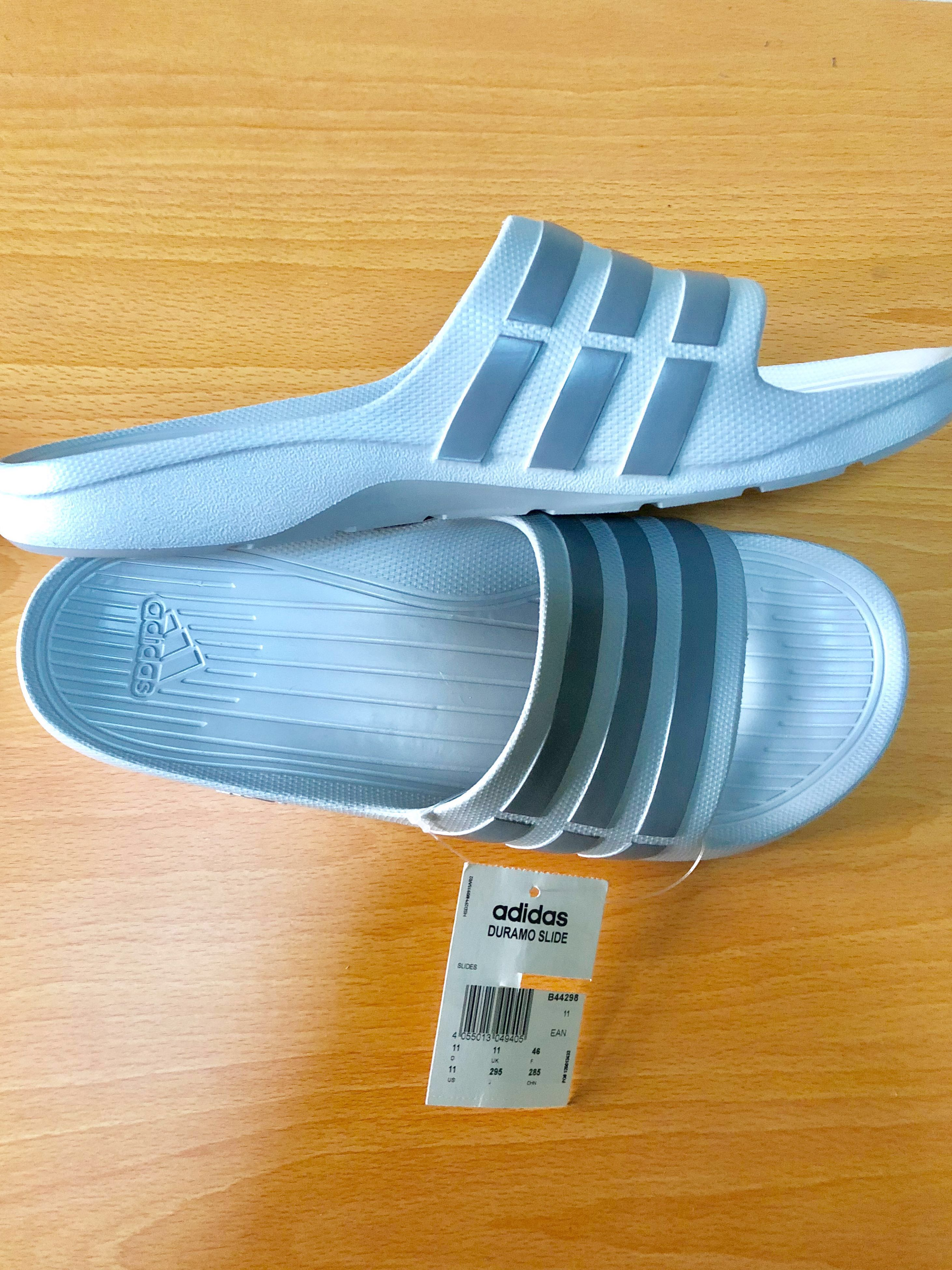 feed42d89482 ORIGINAL ADIDAS DURAMO SLIDE (GRAY) ✨