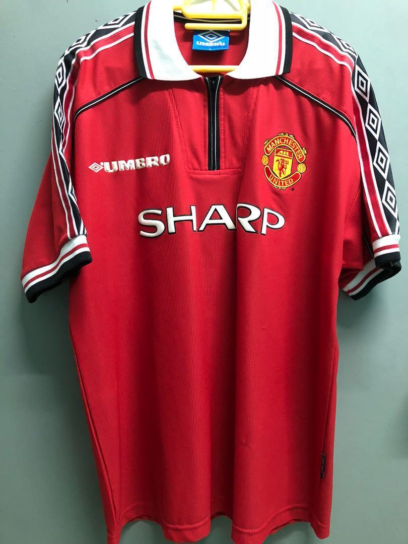 super popular 79840 6c8b0 Original Man Utd treble home kit