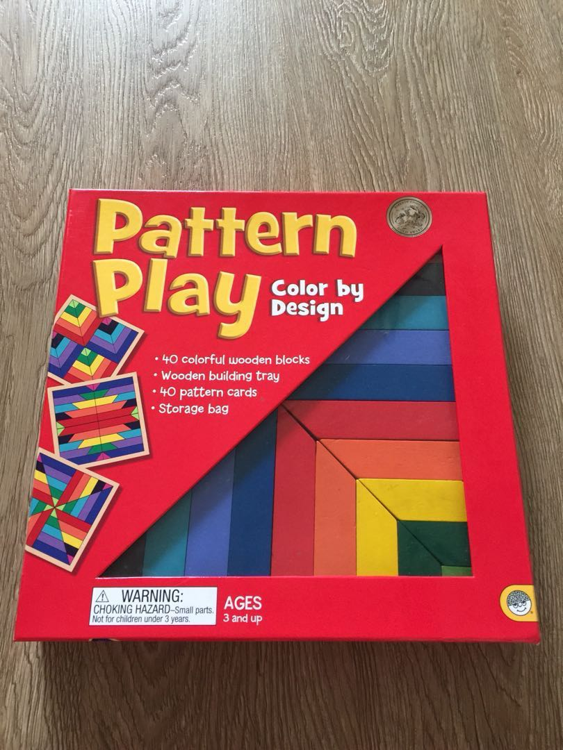 Pattern Play Wooden Blocks Toys Games Others On Carousell