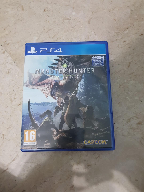 PS4 Monster Hunter World Region 2