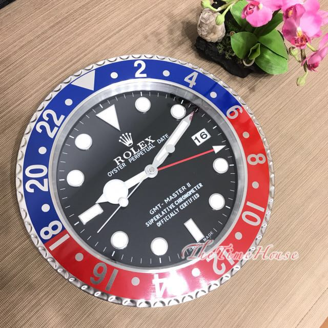 Rolex GMT Master Pepsi Wall Clock, Men\u0027s Fashion, Watches on