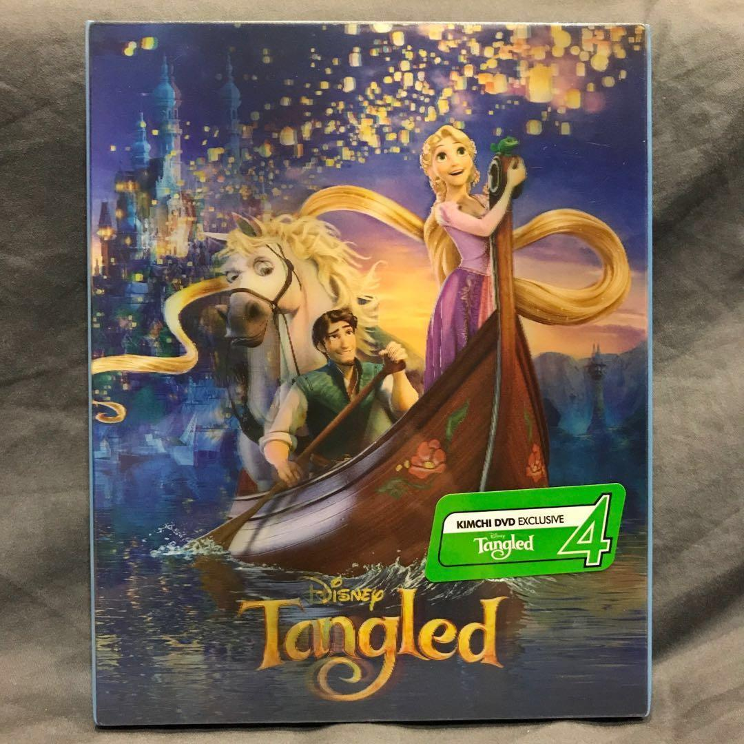 TANGLED 3D+2D Blu-ray Steelbook Korea KimchiDVD Exclusive Lenticular Slip Bluray BRAND NEW MINT