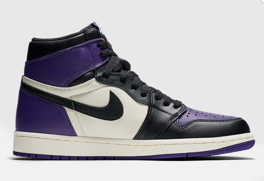 4a12671a1d9 US10 Air Jordan 1 Retro High OG (court purple), Men's Fashion ...