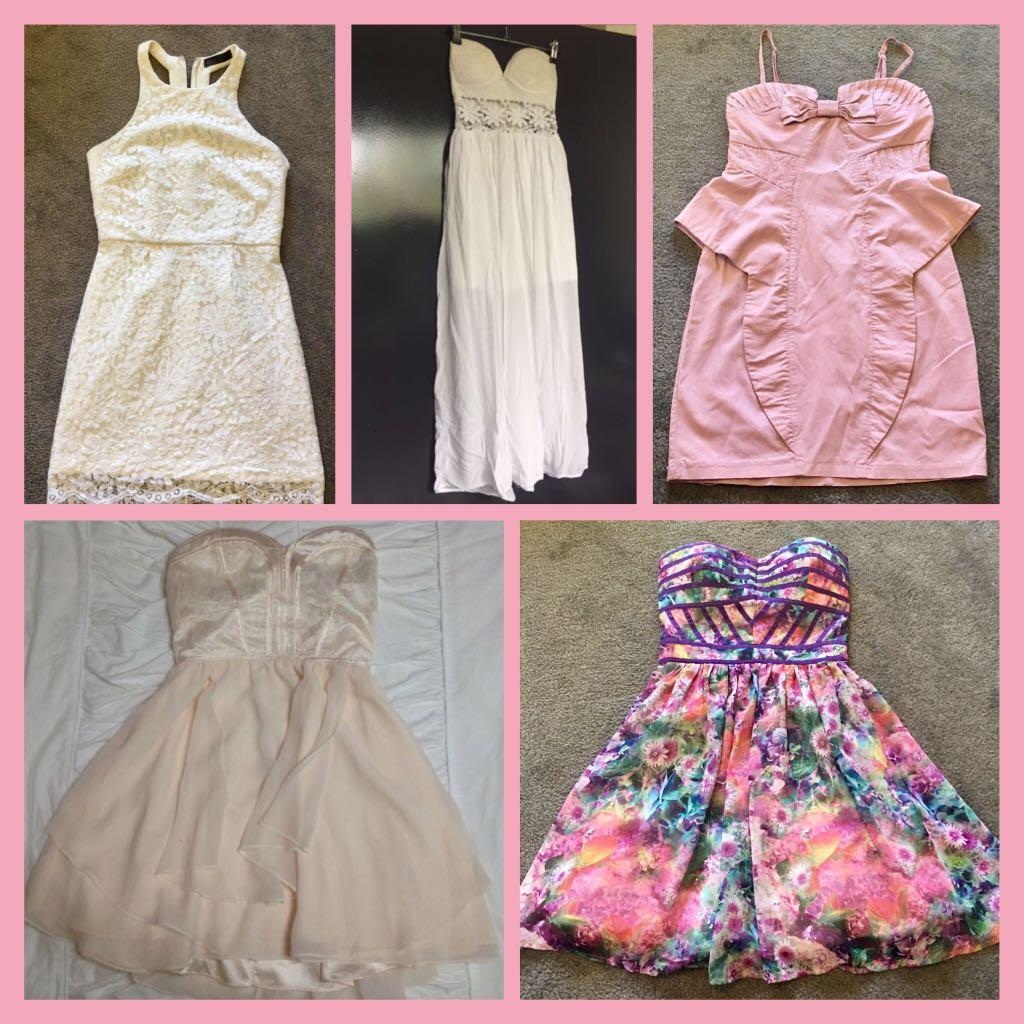 Wardrobe clear out !! Dresses, skirts sizes 8-10 mainly