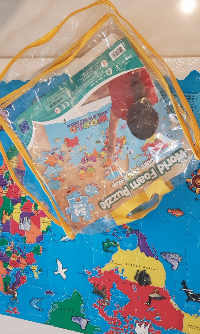 World foam map puzzle, Babies & Kids, Toys & Walkers on ...