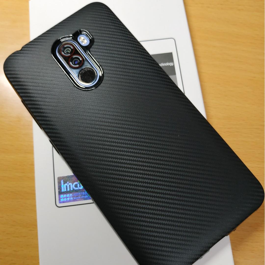 reputable site 9bf7e 218b2 Xiaomi Pocophone F1 Carbon Fiber TPU Case - Black