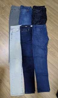 Bundle Zara Topshop Uniqlo jeans