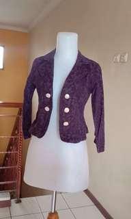 Blazer kerja purple
