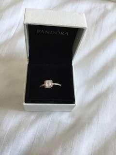 Authentic pandora rose gold ring. Size 8