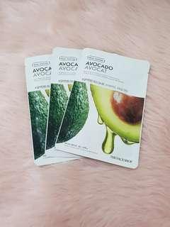 The face shop avocado mask